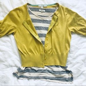 Boden 50's Style Mustard Cardigan size 10